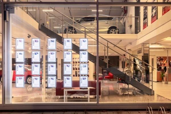 Vindusutstilling med LED - Toyota Sogn