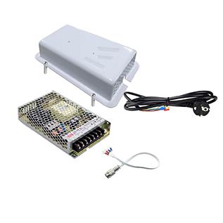 150W / 24V sett med PSU, boks og ledninger
