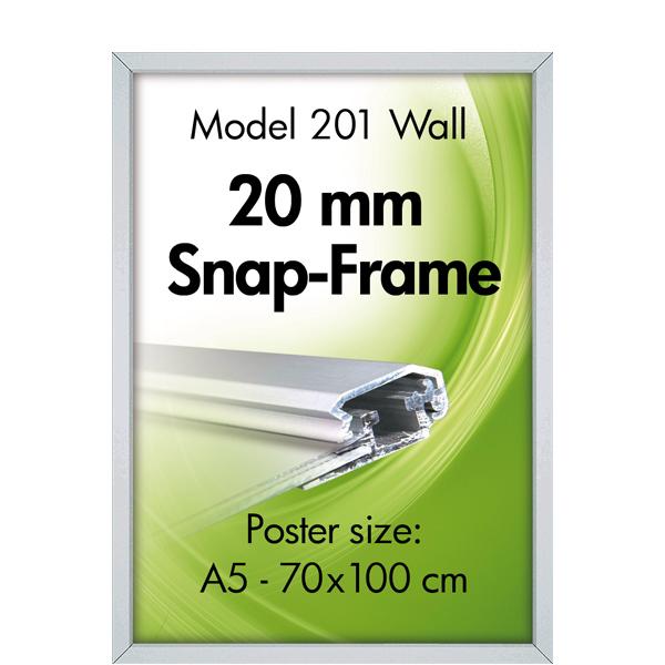 Klikkramme for vegg med 20mm alu-profil Displayhuset
