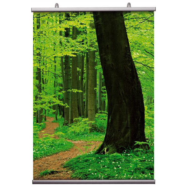 Plakatklemme 20mm alu, A2 - 42cm sett Displayhuset