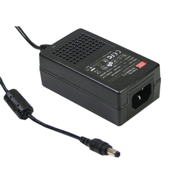 25W / 24V Strømforsyning inkl. nettledning Displayhuset