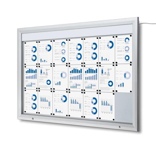 Utendørs skap med LED i toppen, 168,5 x 116,7 cm Displayhuset