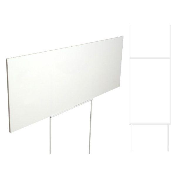 25 stk. Skiltstativ til kanalplast, hvit, 60cm, Displayhuset