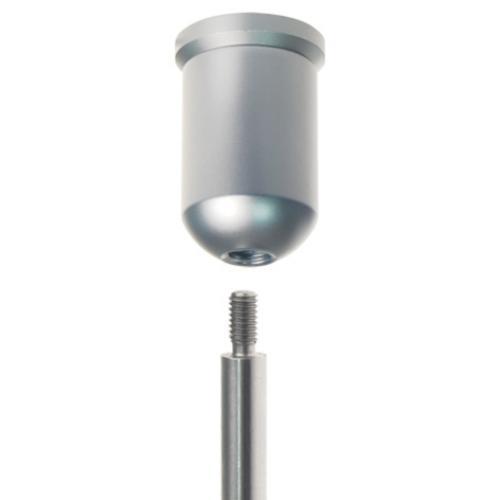 Toppfeste for 6mm stang, med gjenger Displayhuset