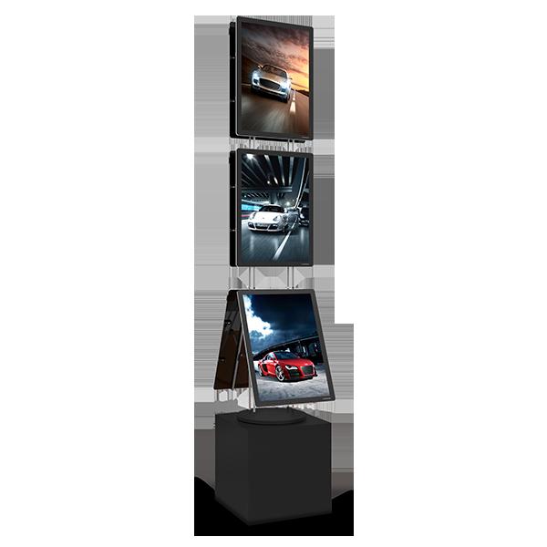 VM BOX Premium base med 90W strømforsyning Displayhuset